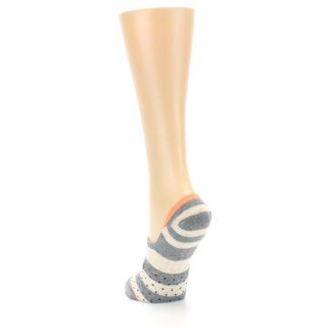Image of Grey Stripe & Dots Women's No-Show Socks (side-2-back-16)