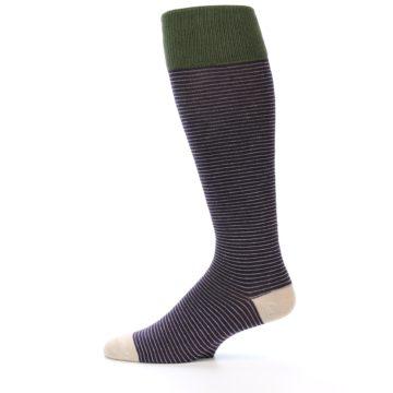 Image of Purple Stripe Men's Over-the-Calf Dress Socks (side-2-12)