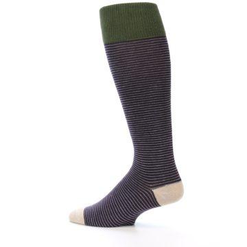 Image of Purple Stripe Men's Over-the-Calf Dress Socks (side-2-13)