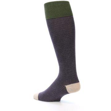 Image of Purple Stripe Men's Over-the-Calf Dress Socks (side-2-back-14)