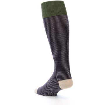 Image of Purple Stripe Men's Over-the-Calf Dress Socks (side-2-back-15)