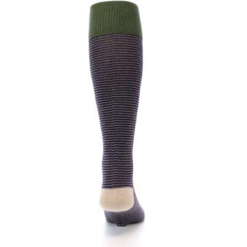 Image of Purple Stripe Men's Over-the-Calf Dress Socks (back-19)