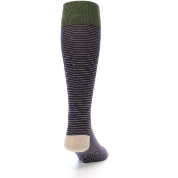 Image of Purple Stripe Men's Over-the-Calf Dress Socks (side-1-back-20)