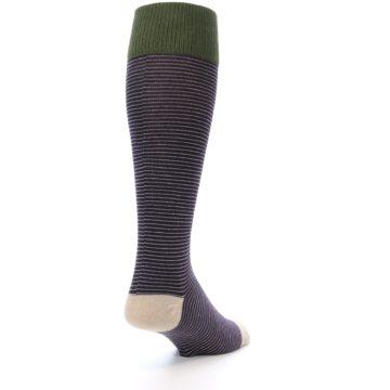 Image of Purple Stripe Men's Over-the-Calf Dress Socks (side-1-back-21)
