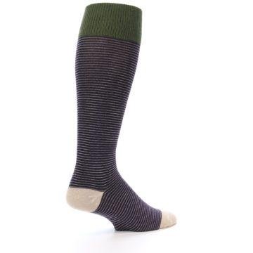 Image of Purple Stripe Men's Over-the-Calf Dress Socks (side-1-23)