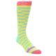 Image of Yellow Blue Optical Stripes Men's Dress Socks (side-1-front-01)