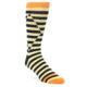 Image of Cream Black Optical Stripes Men's Dress Socks (side-1-front-01)