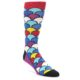 Image of Multi-Color Overlapping Circles Men's Dress Socks (side-1-front-01)