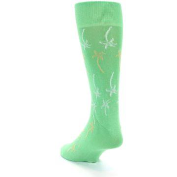 Image of Green Tropical Trees Men's Dress Socks (side-2-back-15)