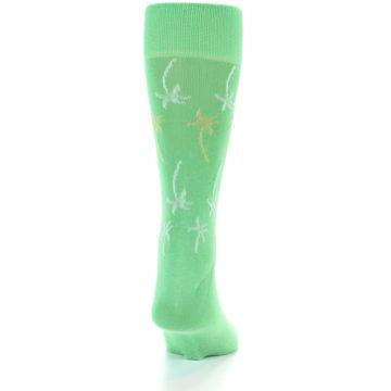 Image of Green Tropical Trees Men's Dress Socks (back-18)
