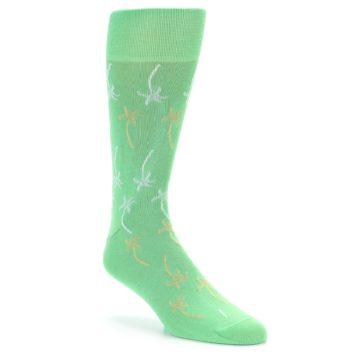 Image of Green Tropical Trees Men's Dress Socks (side-1-27)