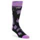 Image of Black Purple Tropical Leaves Men's Dress Socks (side-1-front-01)