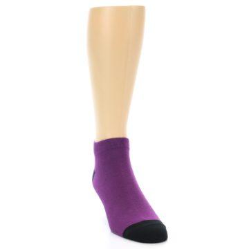Image of Purple Solid Color Men's Ankle Socks (side-1-front-03)