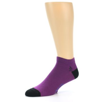 Image of Purple Solid Color Men's Ankle Socks (side-2-10)