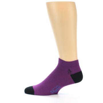 Image of Purple Solid Color Men's Ankle Socks (side-2-12)