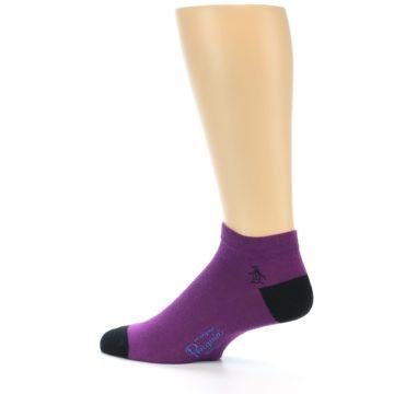 Image of Purple Solid Color Men's Ankle Socks (side-2-13)