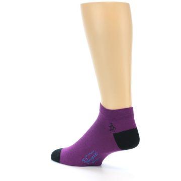 Image of Purple Solid Color Men's Ankle Socks (side-2-back-14)