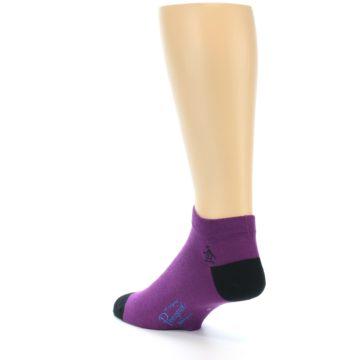 Image of Purple Solid Color Men's Ankle Socks (side-2-back-15)