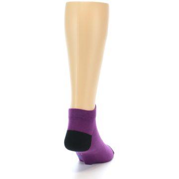 Image of Purple Solid Color Men's Ankle Socks (side-1-back-20)