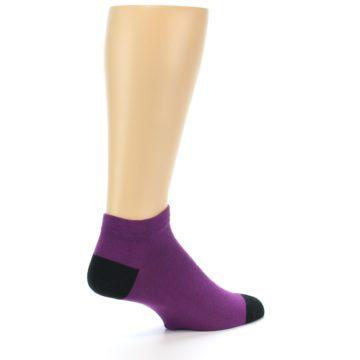 Image of Purple Solid Color Men's Ankle Socks (side-1-23)