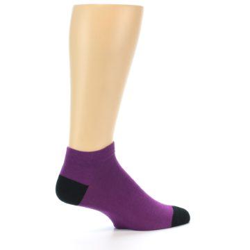 Image of Purple Solid Color Men's Ankle Socks (side-1-24)
