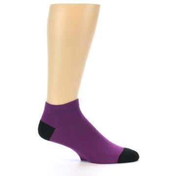 Image of Purple Solid Color Men's Ankle Socks (side-1-25)