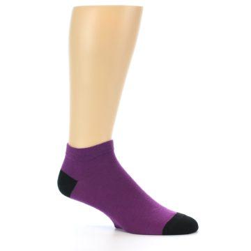 Image of Purple Solid Color Men's Ankle Socks (side-1-26)