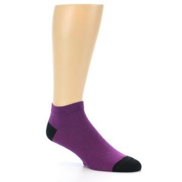 Image of Purple Solid Color Men's Ankle Socks (side-1-27)