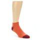 Image of Orange Solid Color Men's Ankle Socks (side-1-front-01)