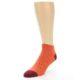 Image of Orange Solid Color Men's Ankle Socks (side-2-front-08)
