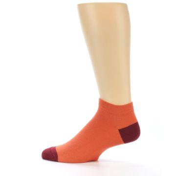 Image of Orange Solid Color Men's Ankle Socks (side-2-12)