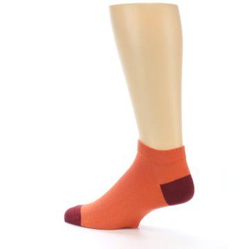 Image of Orange Solid Color Men's Ankle Socks (side-2-13)