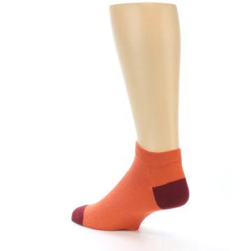 Image of Orange Solid Color Men's Ankle Socks (side-2-back-14)