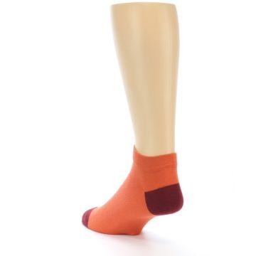 Image of Orange Solid Color Men's Ankle Socks (side-2-back-15)