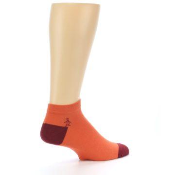 Image of Orange Solid Color Men's Ankle Socks (side-1-23)