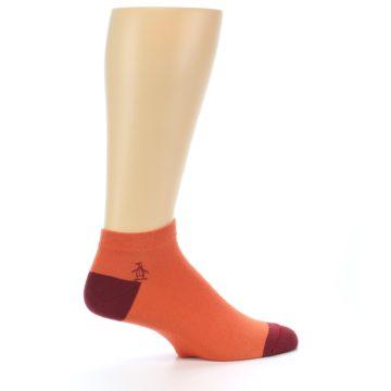 Image of Orange Solid Color Men's Ankle Socks (side-1-24)