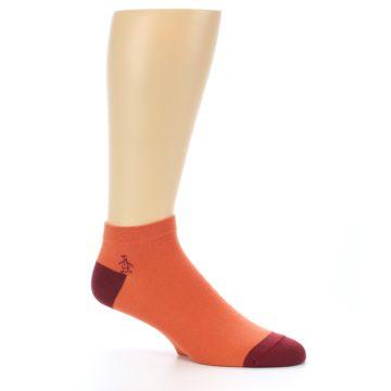 Image of Orange Solid Color Men's Ankle Socks (side-1-26)