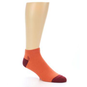 Image of Orange Solid Color Men's Ankle Socks (side-1-27)