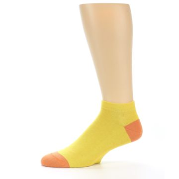 Image of Yellow Solid Color Men's Ankle Socks (side-2-11)