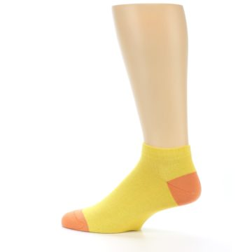 Image of Yellow Solid Color Men's Ankle Socks (side-2-13)