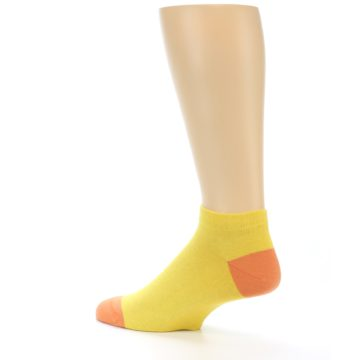 Image of Yellow Solid Color Men's Ankle Socks (side-2-back-14)