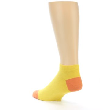 Image of Yellow Solid Color Men's Ankle Socks (side-2-back-15)