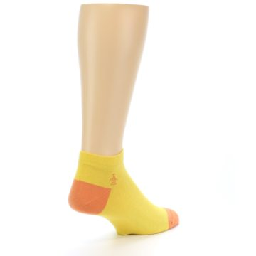 Image of Yellow Solid Color Men's Ankle Socks (side-1-back-22)