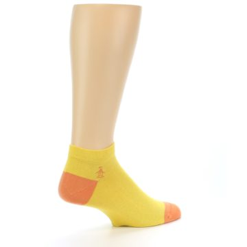 Image of Yellow Solid Color Men's Ankle Socks (side-1-23)
