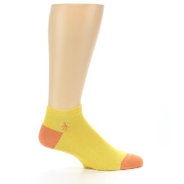Image of Yellow Solid Color Men's Ankle Socks (side-1-25)