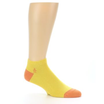 Image of Yellow Solid Color Men's Ankle Socks (side-1-26)