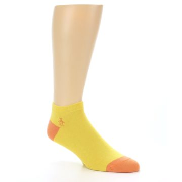 Image of Yellow Solid Color Men's Ankle Socks (side-1-27)