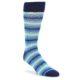 Image of Navy Blues Seafoam Stripe Men's Dress Socks (side-1-front-01)