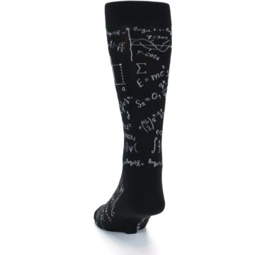 Image of Black White Math Genius Men's Dress Socks (side-2-back-16)