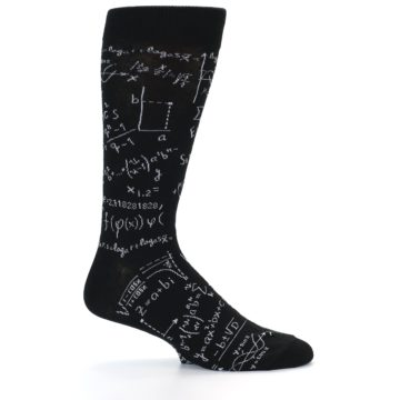 Image of Black White Math Genius Men's Dress Socks (side-1-24)